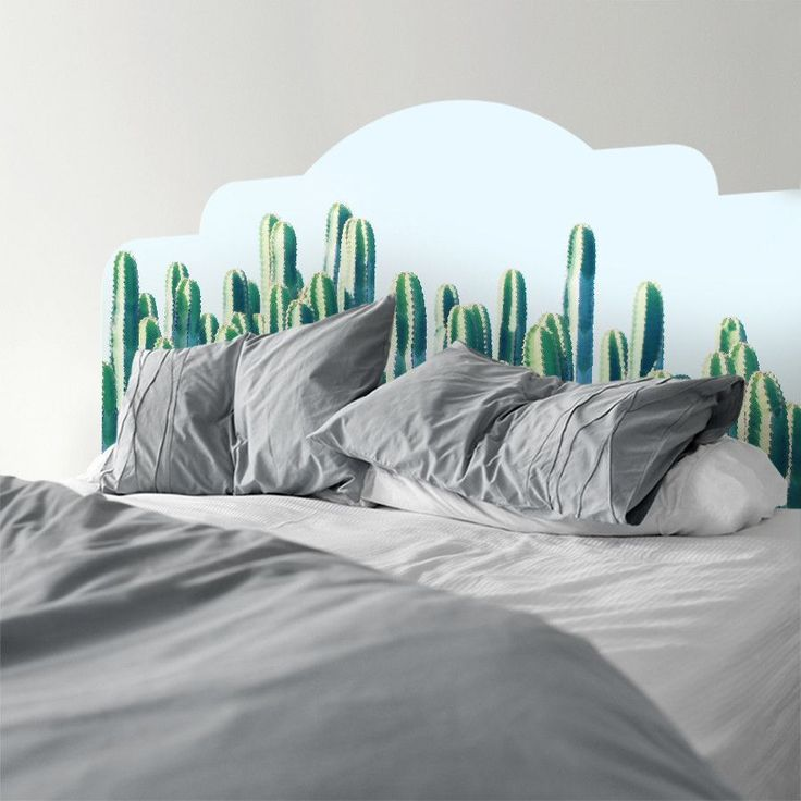 Cactus II | Headboard Decal | #WallsNeedLove #designer #decor #headboards https://wallsneedlove.com/products/cactus-ii-headboard-decal #design #art #graphicdesign #SEO