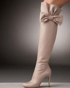 Valentino Bow-Topped Over-the-Knee Boots... Soo expensive, but soo stunning.