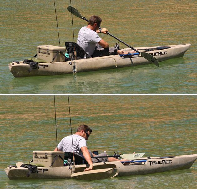 Dfp fishing kayak with retractable pontoons 3 products i for Most stable fishing kayak