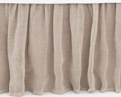 Pine Cone Hill Linen Mesh Bed Skirt