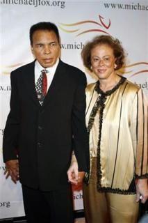 Muhammad Ali  and wife Lonnie.
