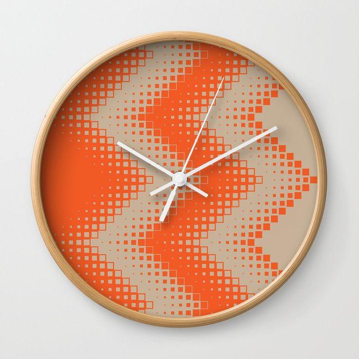 Die besten 25+ Orange wanduhren Ideen auf Pinterest 50er deko - wohnzimmer orange beige