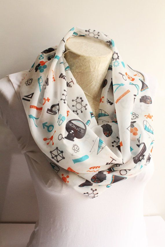 Hey, I found this really awesome Etsy listing at https://www.etsy.com/listing/224042787/science-scarf-chemistry-scarf-atom