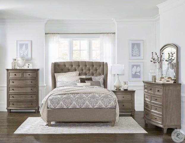 Vermillion Gray King Upholstered Panel Bed From Homelegance Coleman Furniture Upholstered Bedroom Set Upholstered Bedroom Bedroom Set Cream upholstered bedroom ideas