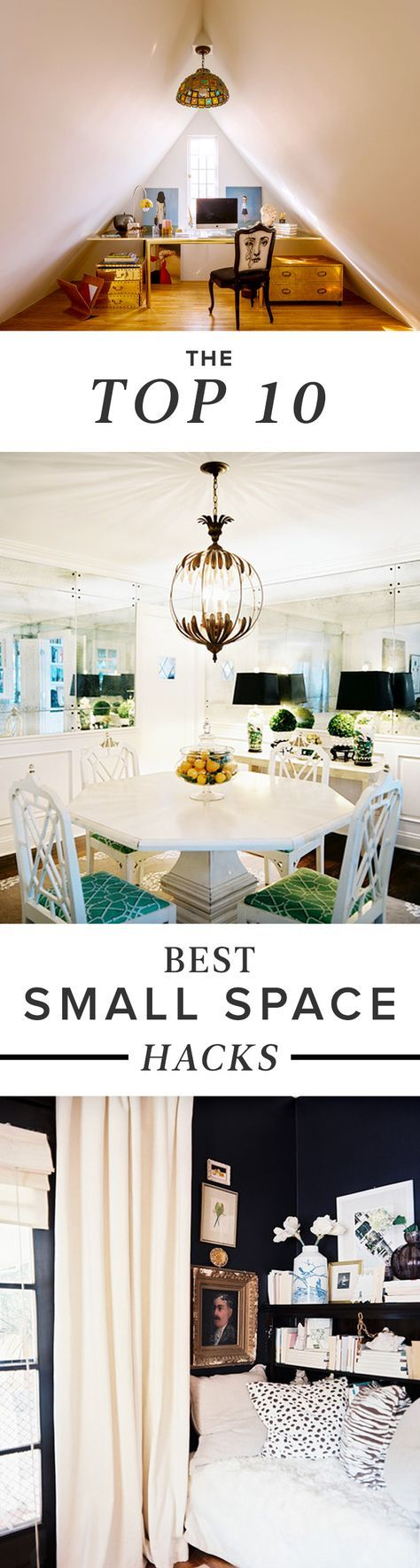 Best Small Space Hacks: Whether you live in a five-bedroom spread in the 'burbs, or a tiny fifth-floor walk-up in the city, no one could argue with a few pointers on how to best utilize the space in which we live. Here, we've rounded up some of our foolproof tips, tricks, and strategies for small-space living that are easier than you think. Click through to see what we've got up our sleeve.