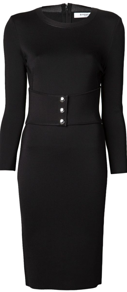 GIVENCHY ●  Belted Black Dress