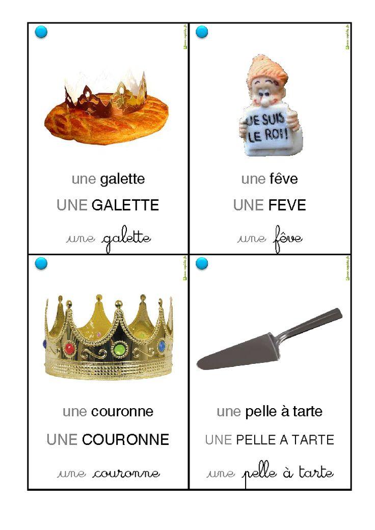 32 cartes vocabulaire galette des rois