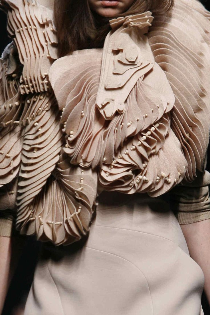 Givenchy AW06/07 - Beautiful fabric manipulation + texture.