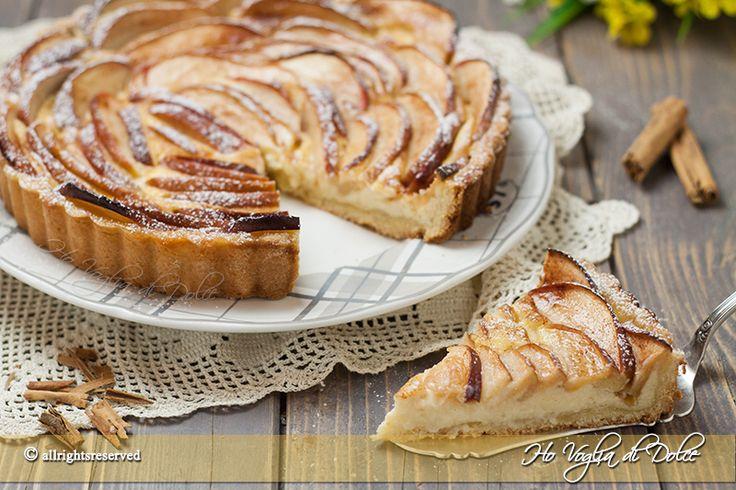 Crostata di mele e crema pasticcera una ricetta facile da preparate. Un dolce con le mele speciale, buonissimo, perfetto per merenda e occasioni speciali.