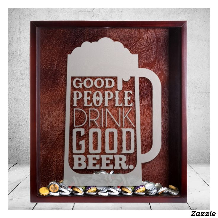 Large Beer Cap Shadow Box & Beer Quote Engraving
