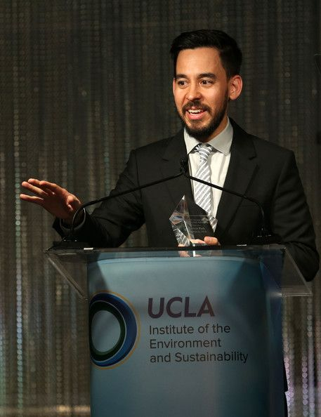 Mike Shinoda Photos Photos - Recording artist Mike Shinoda speaks to the audience at the UCLA Institute Of The Environment And Sustainability (IoES) 'An Evening Of Environmental Excellence' held at a private residence on March 21, 2014 in Beverly Hills, California. - UCLA Institute Of The Environment And Sustainability (IoES) An Evening Of Environmental Excellence - Show