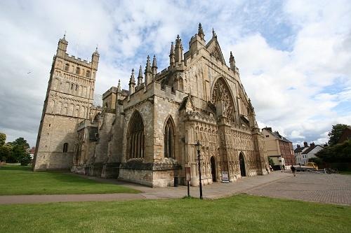 Exeter Cathedral, Devon, UK.