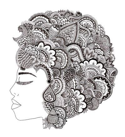 cool afro by maricela