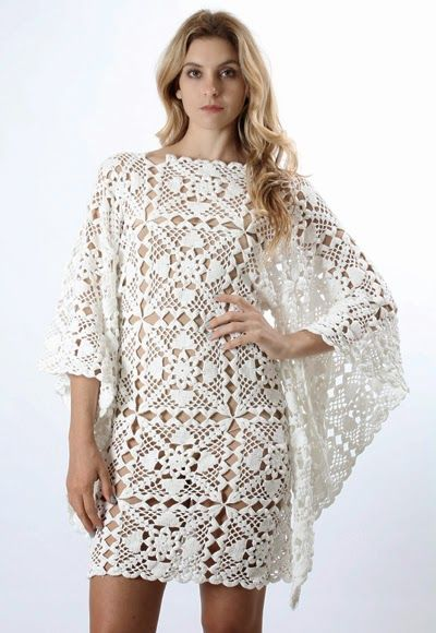 Ivelise Hand Made: Dress In Crochet Squares with the diagram of the square at source