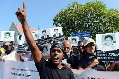 [Sri Lanka] February 14, 2013: Switzerland is backing a South African proposal for a multi-pronged peace and reconciliation effort between the Sri Lankan government and Tamil National Alliance (TNA) rebels. Photo credit: AFP.