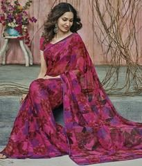 Pink Color Georgette Party Wear Sarees : Prishika Collection  YF-40825