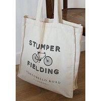 """""""Stumper & Fielding"""" ロンドン ポートベローストリート オリジナルエコバッグ From LONDON"""