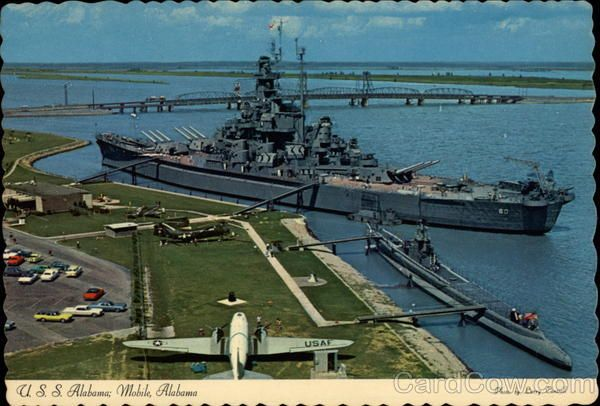 Great park, and a great tour of the USS Alabama in Mobile AL