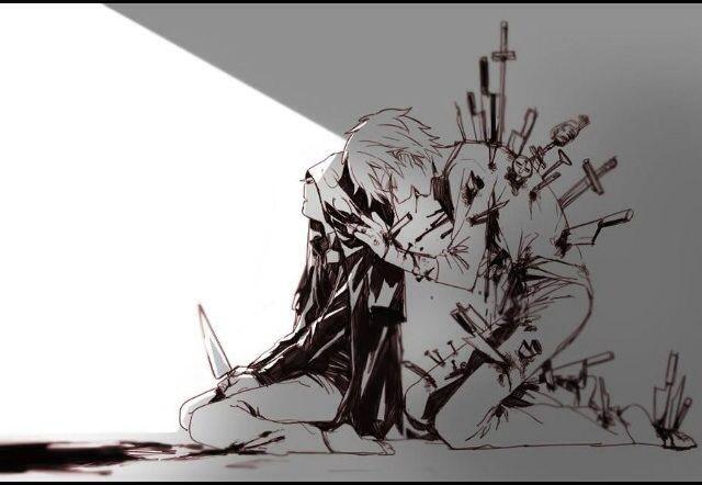 Bloody anime boys