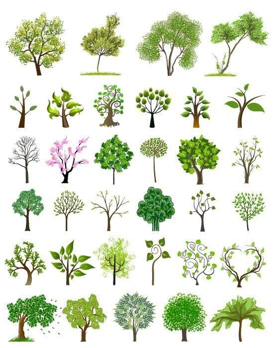 [나무 일러스트] 봄 일러스트, 나무 일러스트/ 벡터, 나무 일러스트 : 네이버 카페