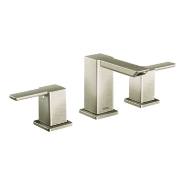 BN - $624 - Bath Faucet    90 Degree Brushed nickel two-handle low arc bathroom faucet - TS6720BN