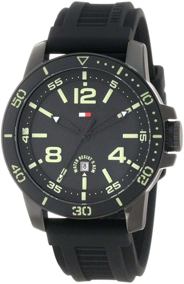 Tommy Hilfiger 1790847 Sport Black IP Watch with Black Silicon Strap and Illuminated dial Watch *** More info could be found at the image url.