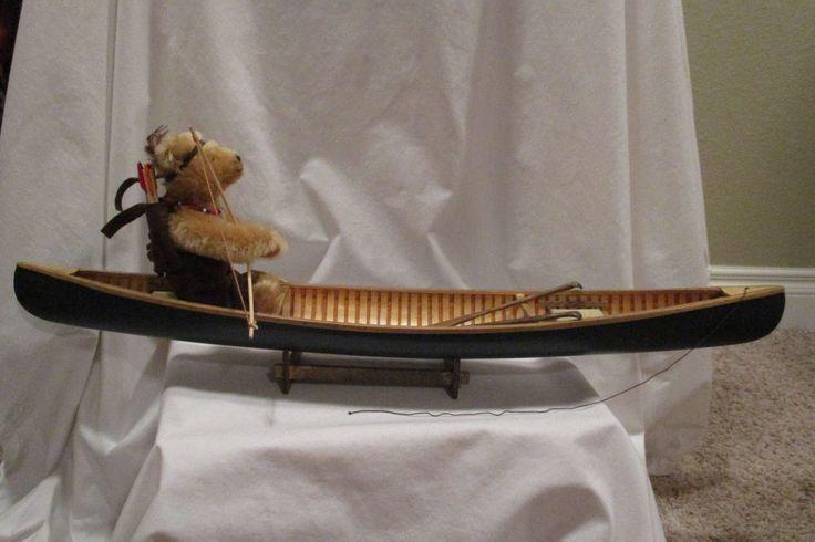 Steiff Teddy Bear 'Last of the Mohican' in Canoe EAN 665509 #Steiff
