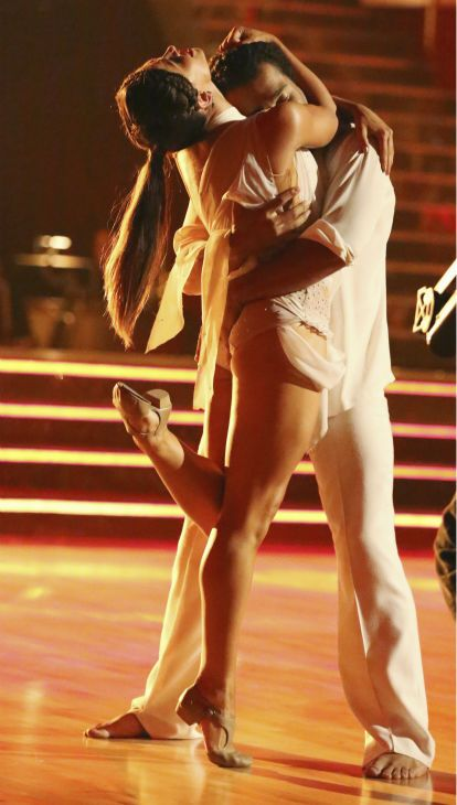 Corbin Bleu and Karina Smirnoff dance Contemporary - Dancing With the Stars - week 1 - season 17 - fall 2013 - this couple placed 2nd for the season