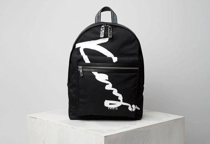 KENZO Signature Backpack, BLACK, KENZO