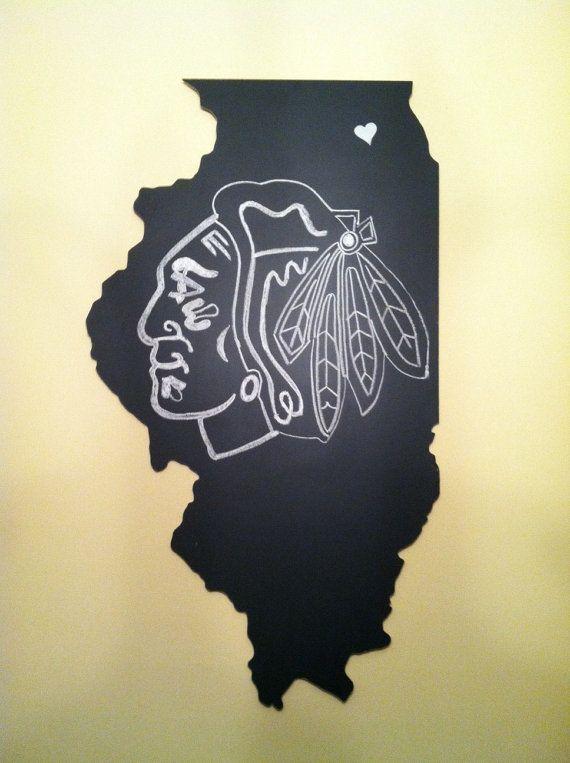 Chalkboard State Cutout Large by StatedInChalk on Etsy, $30.00