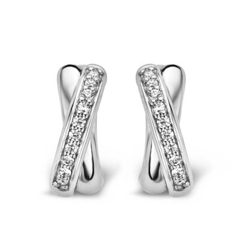 Ti Sento Milano Sterling Silver and Clear Cubic Zirconia Earrings #tisento #earrings #cz #jewellery #classic #shadesoftime