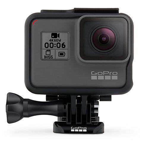 Buy GoPro HERO6 Black Edition Camcorder, 4K Ultra HD, 12MP, Wi-Fi, Waterproof, GPS Online at johnlewis.com