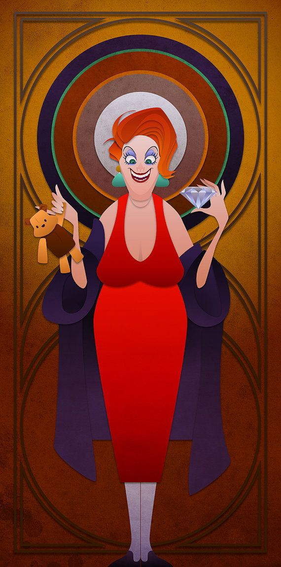 Disney Villains Series Madame Medusa by JonMendez on Etsy