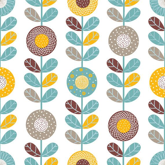 Sunflowers Removable Wallpaper 8 Feet by WallsNeedLove on Etsy, $68.00