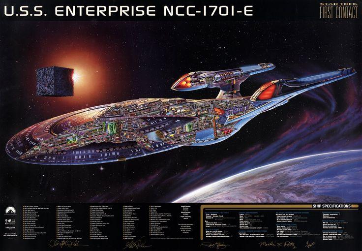 Cutaway schematic of U.S.S. Enterprise NCC-1701 E