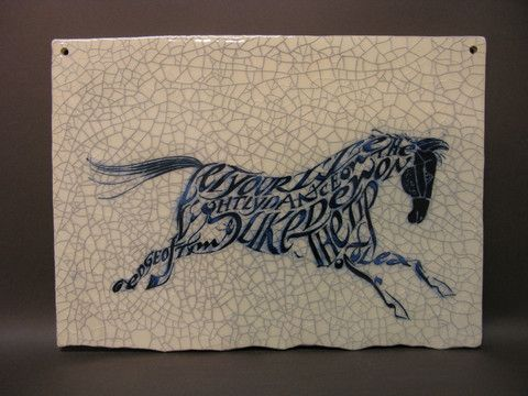 Horse Poetry Tile http://www.shop.obsidianart.co.uk/collections/iris-milward