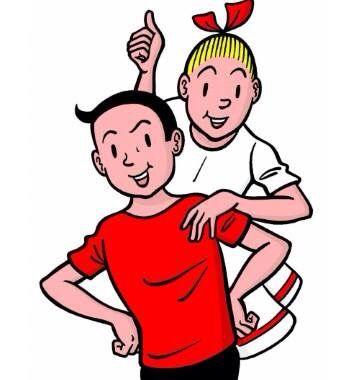 strip: Suske en Wiske vind ik leuk. Mijn vader heeft heel veel strips van Suske en Wiske en ik ging toen een keer zo'n strip lezen en ik vond dat heel leuk dus daarom heb k deze strip gekozen.