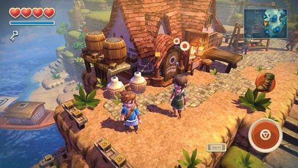 Oceanhorn - a zelda like adventure, with small compact islands full of puzzles and enemies