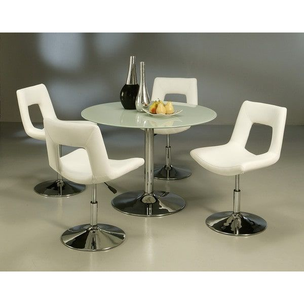 Lowest Price Online On All Pastel Furniture Sundance Frosted Glass 5 Piece  Dining Set With Dublin Chairs