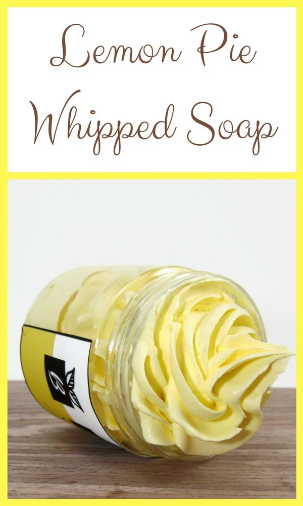 Lemon Pie? Yes please! Whipped soap? Oh, yeah!  #Whippedsoap #Lemonpie #Lemonsoap