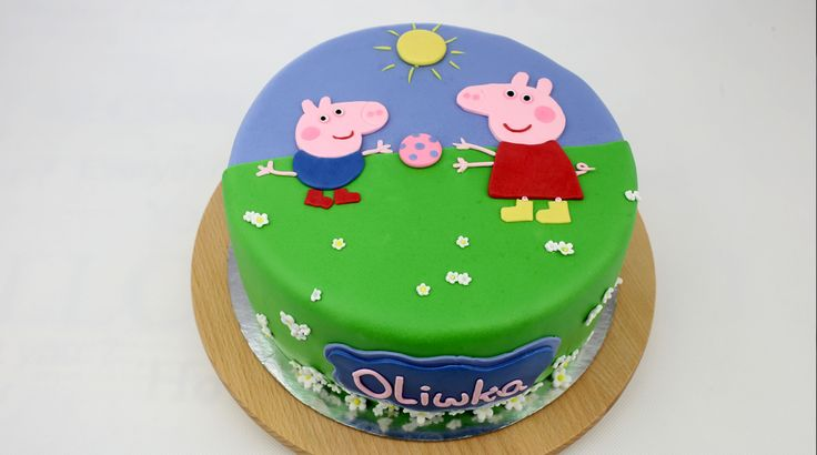 💗 Birthay cake with peppa pig,  Orchideli - Peppa Pig cake💗   orchideli-tort urodzinowy ze świnką peppą