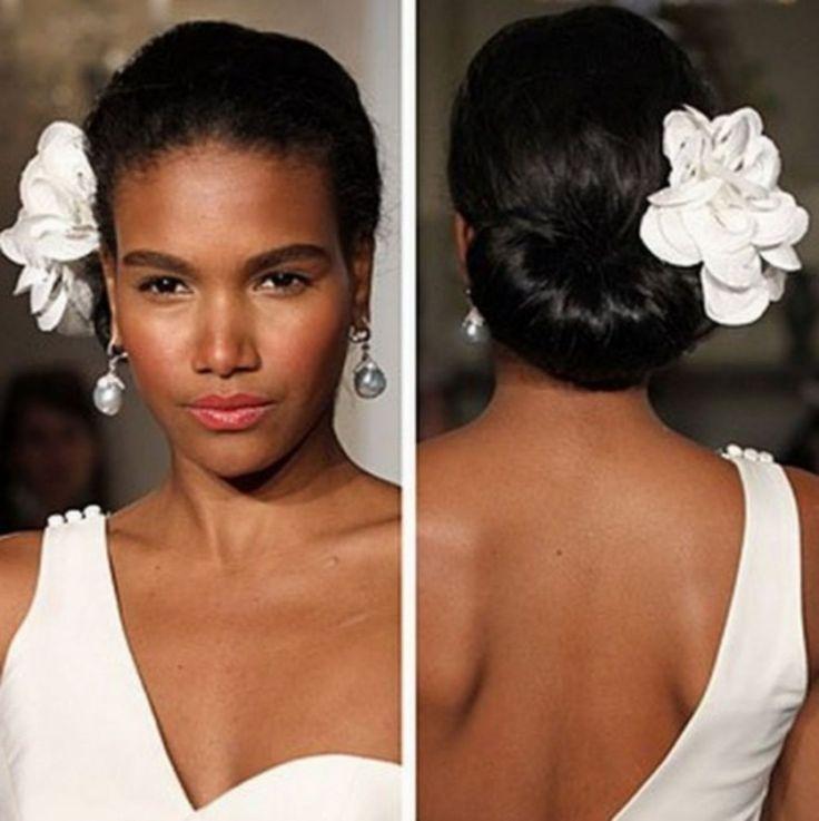 Wedding Hairstyle Images, Black Wedding Hairstyles, Bride Hairstyles, Vintage Hairstyles, Black Hairstyles, Updo Hairstyle, Hairstyles 2016, Hairstyle Ideas, Fringe Hairstyle
