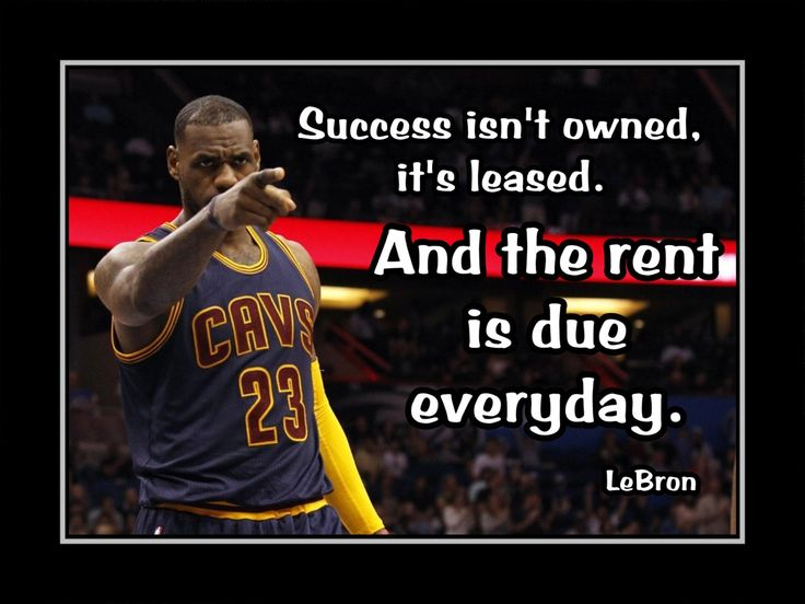 "Basketball Poster Lebron James Cleveland Cavs Photo Quote Wall Art Print 8x10""- 11x14 Success Isn't Owned - Rent Due Every Day - Free Ship by ArleyArt on Etsy"