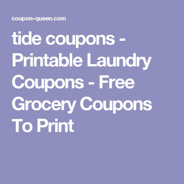 tide coupons - Printable Laundry Coupons - Free Grocery Coupons To Print