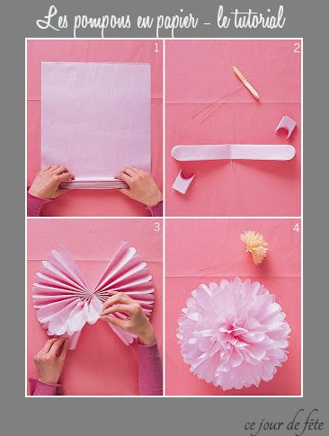 Martha Stewart Tutorial how to do paper pompom DIY