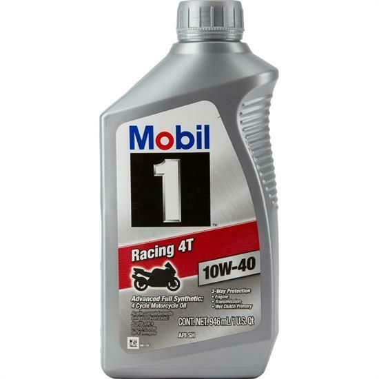 Ebay Advertisement Mobil 1 10w 40 Full Synthetic Motorcycle Oil 1 Qt Racing 4t Motorcycle Racing Ebay