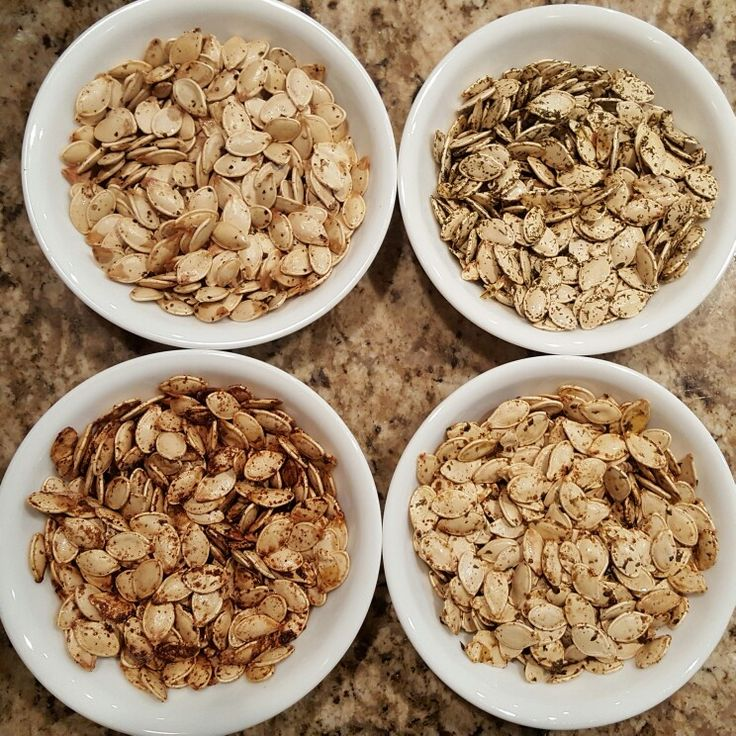 4 flavors of pumpkin seeds Bake at 300F for 20 mins (stir once after 10 mins). 1 cup of seeds for each flavor. 1/2 spoon vegetable oil. 1 spoon of dip flavor by Victorian Epicure. Spread out on parchment paper in a baking tray. Bake. Cool in tray. Enjoy.   Website for VE: https://epicure.com/en/products/food/dips  Flavors are clockwise from top left: salt n pepper, lemon dill (by VE), cheesey jalapeño (by VE) and brown sugar/cinnamon/cayenne #marthadibhen #pumpkin #seeds #roasted #baked…