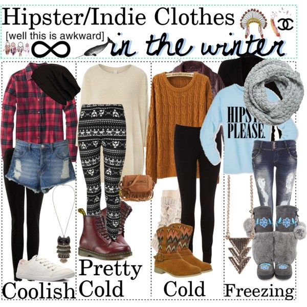 "Hipster && Indie Clothes - Polyvore; I love the ""Cold"" sweater and boots!!!"