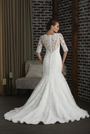 Katrina -Modest Wedding dresses with sleeves. I like that it is appropriate for a temple wedding!