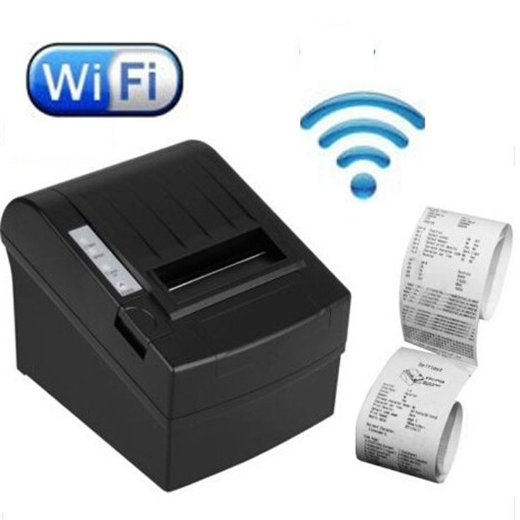 131.93$  Watch now - http://aliq2l.worldwells.pw/go.php?t=32531435056 - High Speed 300mm/second Wireless POS Thermal receipt printer 80mm Wifi printer Auto Cutter _DHL